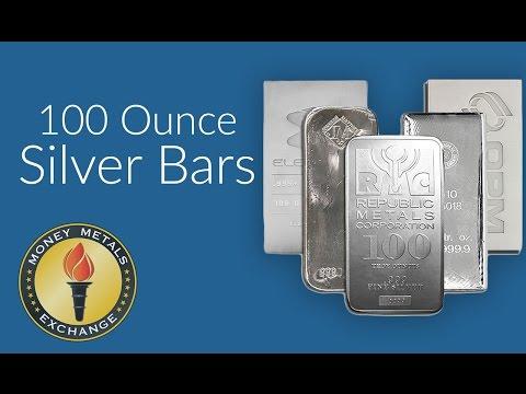 100 Oz Silver Bar | Money Metals Exchange