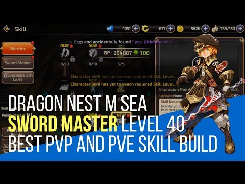 Dragon Nest M - Sword Master Best PVE and PVP Skill Build