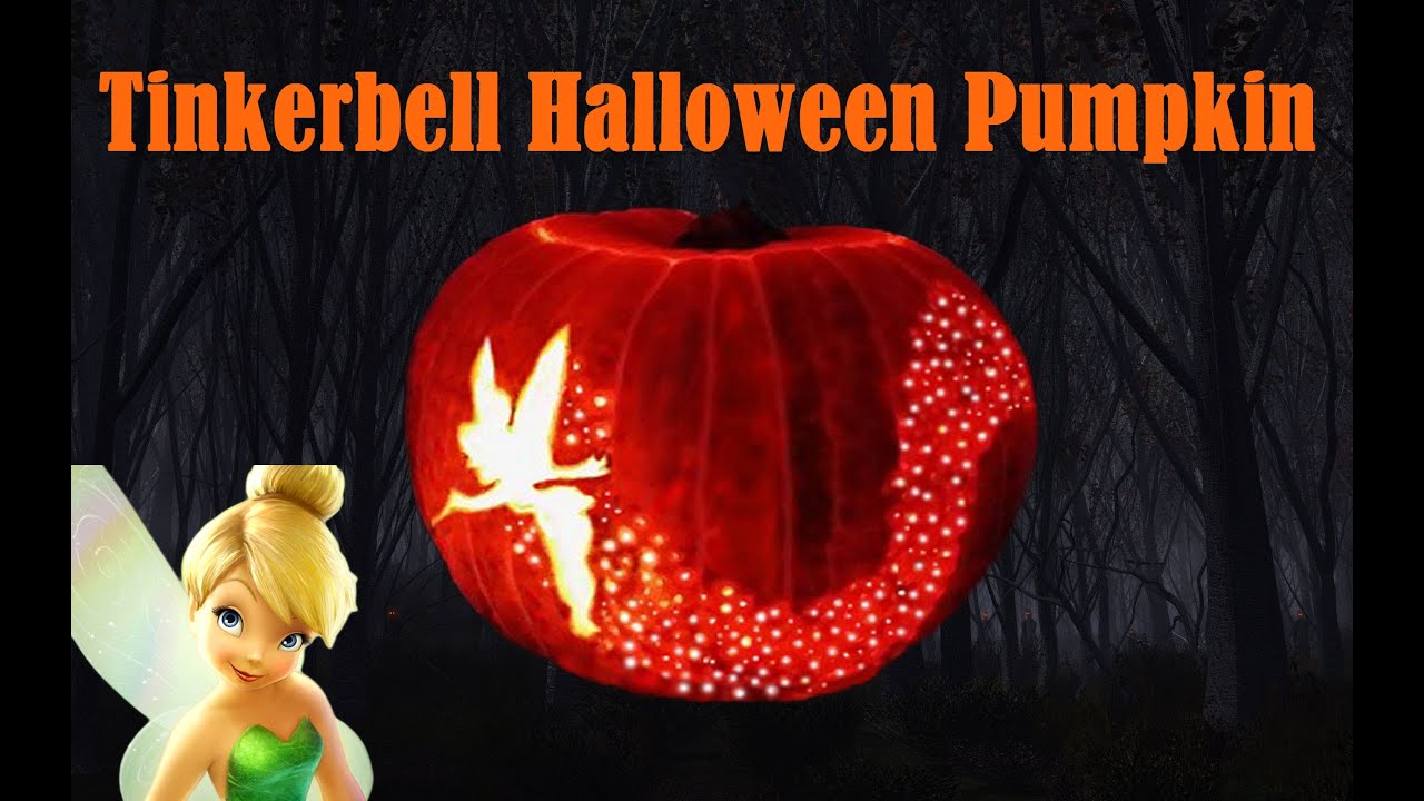 tinkerbell pumpkin template free - diy tinkerbell halloweeen pumpkin youtube