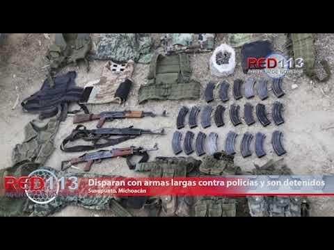VIDEO Disparan con armas largas contra policías y son detenidos, en Susupuato