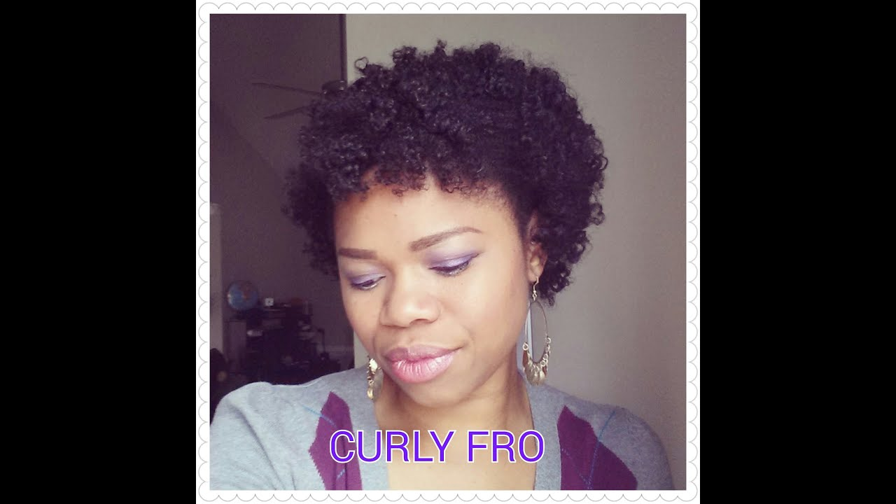 Curly Fro Using Bantu Knots Fine 4c Hair Youtube