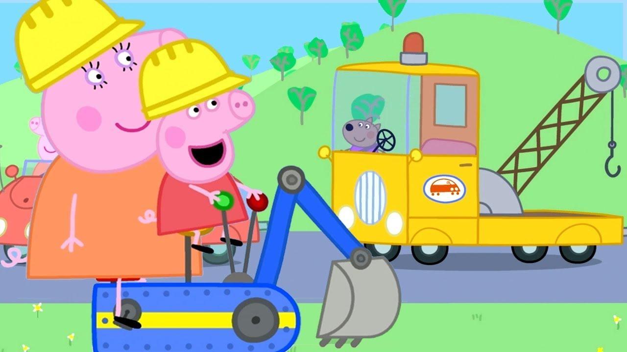 Peppa Pig Português Brasil | Carros e Construção! | Desenhos Animados