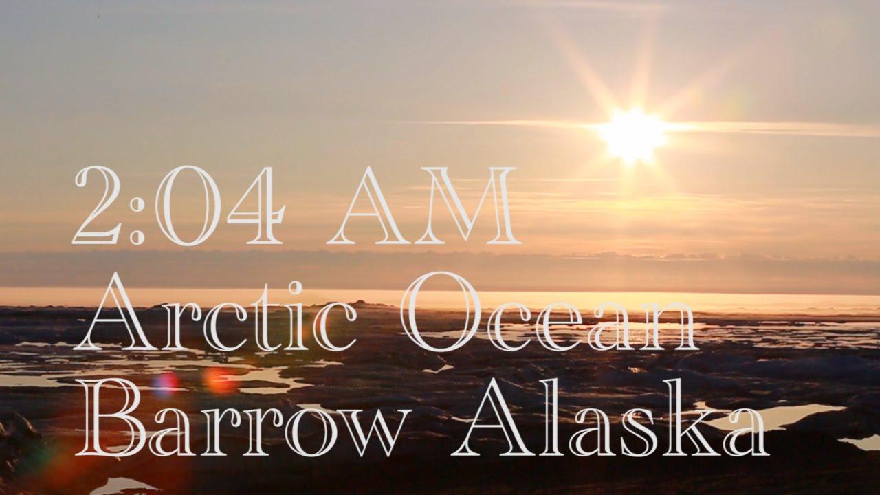 Arctic ocean barrow alaska summer solstice youtube for Do you have to buy land in alaska