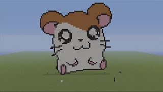 Hamtaro MC PIXEL ART SPEED BUILD - Minecraft Pixel Art