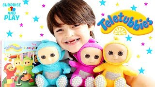 New Giggling Tiddlytubbies Teletubbies Plush Toys and Book