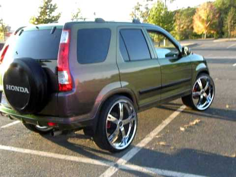 Honda Crv With Chameleon Paint Job On 24 S Youtube