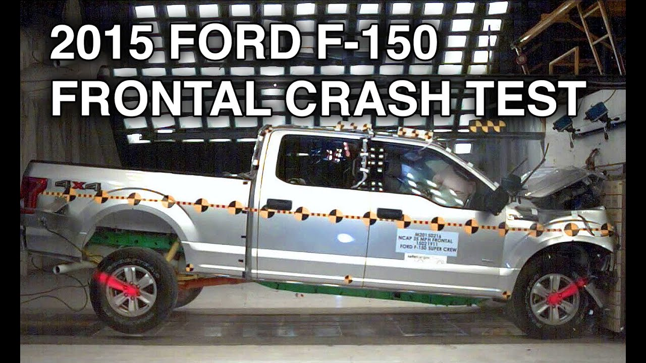 2015 ford f 150 supercrew crash test frontal youtube