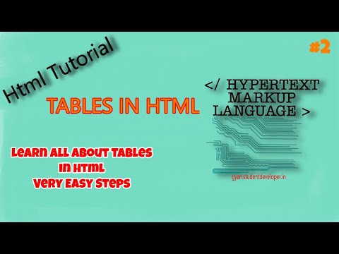 HTML Video Tutorial- Html Table Tag , Html Tr Tag And Html Td Tag|studentdeveloper|#2