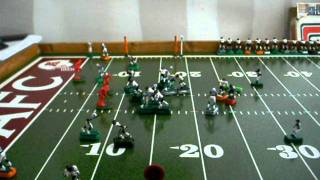 Electric Football 3rd down touchdown pass play by the Bears