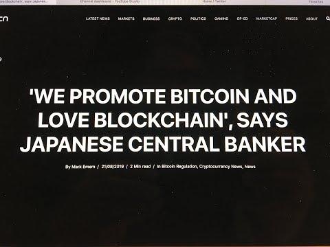 Japan Central Bank Loves Bitcoin And Blockchain