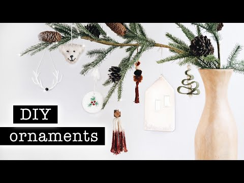 DIY HOLIDAY ORNAMENTS // Aesthetic & Simple Tutorials