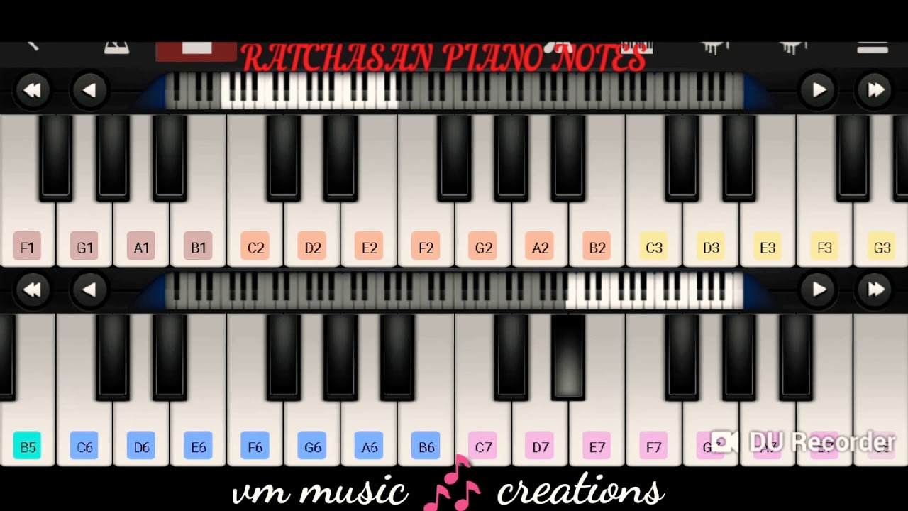 Ratchasan Psycho Villain Bgm Piano Notes From Your Vm Music