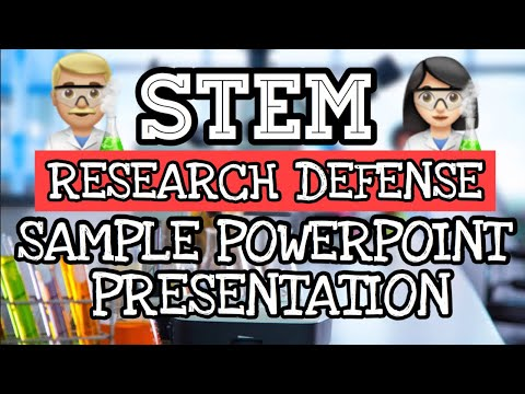 Sample Powerpoint Presentation For Research Defense Of STEM Students + Explanation
