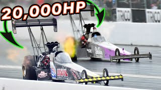 Standing Between 20,000HP - Top Fuel Dragsters!
