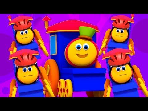 Bob il treno | cinque piccoli bambini | saltare filastrocche | rime in italiano | Five Little Babies