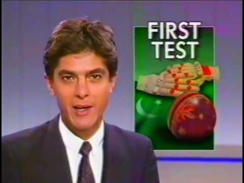 1989 -1990 First Cricket Test AUS V PAK
