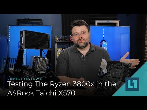 Testing The Ryzen 3800x In The ASRock Taichi X570 -- Faster Than The 9900k?