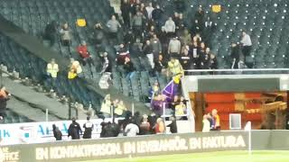 Maribor steal AIKs banner and AIK supporters take it back