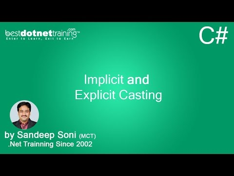 What is Implicit and Explicit Casting - C# Tutorial - 3