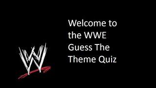 My WWE Theme Quiz