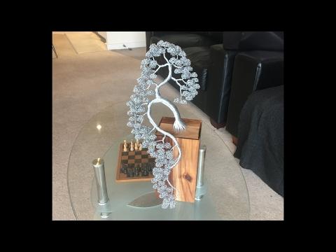 Making A  Bonsai Wire Sculpture, Time Lapse