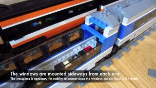 LEGO TGV construction details of custom high speed train model