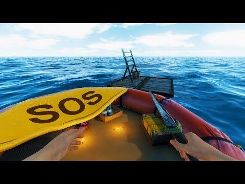 SURVIVING ON A RAFT AT SEA!   Bermuda - Lost Survival Game   Bermuda - Lost Survival Gameplay Part 1
