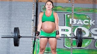 Pregnant Woman Lifting Weights -- SHOCKING MOMENT