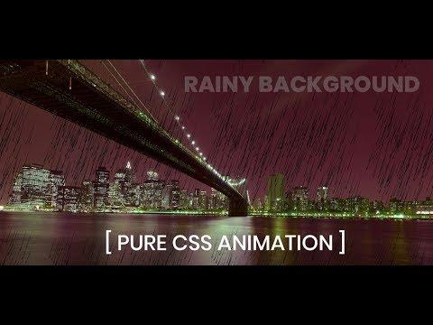 Pure css rainy Day background animation