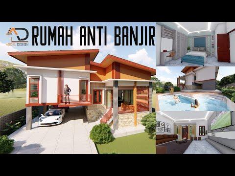 Desain Interior Rumah Panggung Minimalis  stilt house design