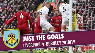 All goals from burnley's premier league fixture at anfield against liverpool.