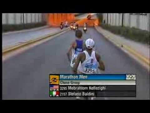 Stefano Baldini Athens 2004 Olympic Games Men's Marathon ITA