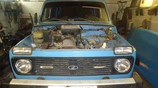 видео Замена двигателя ВАЗ 2131