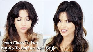 Half Up Half Down Hair Style | My Go To Look | TheMakeupChair