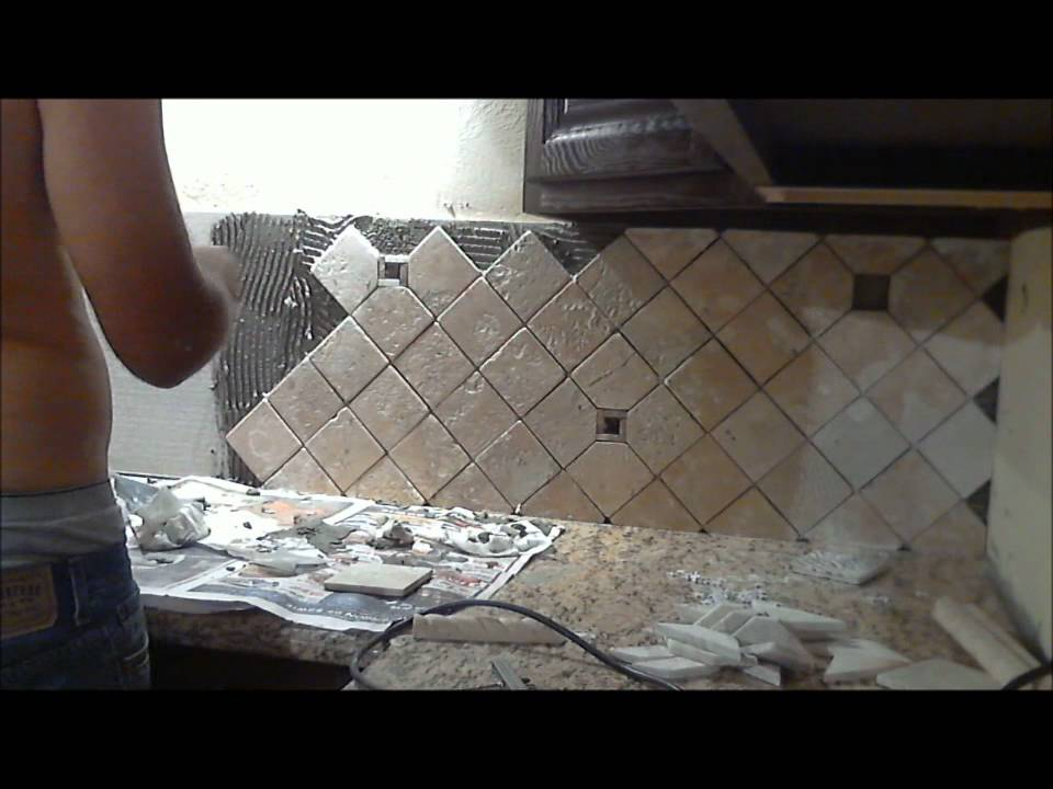 Backsplash Installation 48 Time Lapse YouTube Beauteous Backsplash Installer