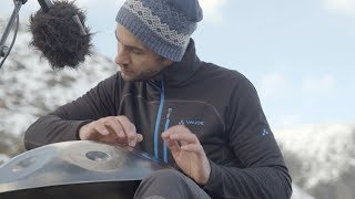 Handpan Peformance High in the Alps with Manu Delago