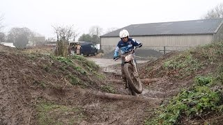 MUDDY AND WETTEST TRIAL ON A GAS GAS TRIALS BIKE!!!