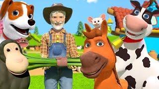 교육으로 동요와 아기의 노래를 Old MacDonald Had A Farm Mainan dan lagu anak-anak Animation ( Cartoon )
