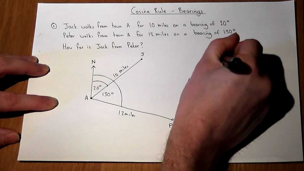 hight resolution of Trigonometric Questions with Bearings (examples