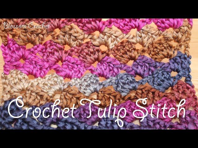 Easy Crochet: Tulip Stitch / Leaning Granny Baby Blanket / Scarf