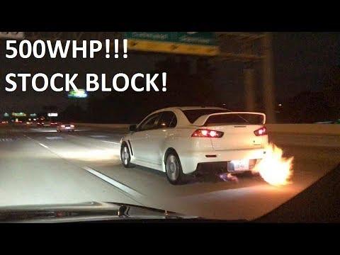500whp Evo X vs E85 335i | Camaro SS | 5 0
