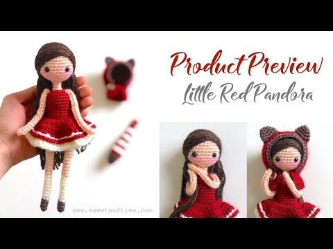 Product Preview    Little Red Pandora, Amigurumi & Crochet Doll Pattern
