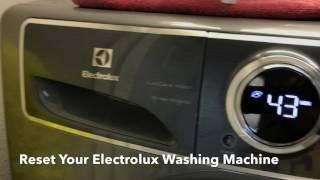 Reset Your Electrolux Washing Machine