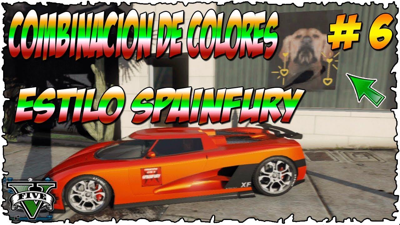 Gtav online combinacion de colores para tunear tus coches pinturas estilo spainfury 6 youtube - Combinacion de colores pintura ...