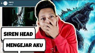 SIREN HEAD INGIN MEMAKAN AKU😱 | Godzilla Part 5 - Chat Story Horror #TERSERAM