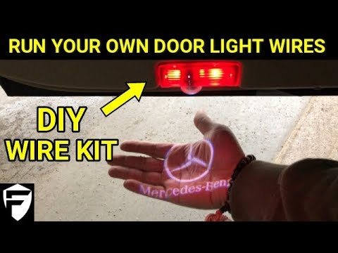 INSTALL MERCEDES C-CLASS DOOR LOGO LIGHTS (DIY WIRING)