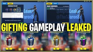 *NEW* GIFTING GAMEPLAY/SENDING GIFTS! *All Gift Options In-game* | (Fortnite)