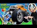 VILLAIN RUNS OVER TOY w/ CAR + Boiling Toys & More 💀 Kaos Gets Caught!! SKYLANDERS IMAGINATORS Skit