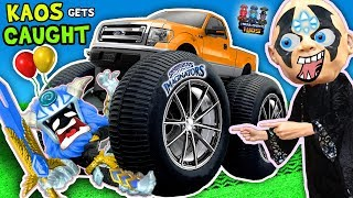 VILLAIN RUNS OVER TOY w/ CAR + Boiling Toys & More 💀 Kaos Gets Caught!! SKYLANDERS IMAGINATORS Skit