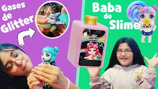 🌈 Gases de Glitter y Baba de Slime??!! 🌈 Romis y Titis tienen dos nuevas muñecas divertidas